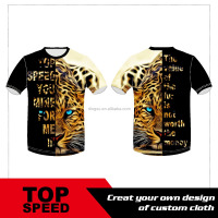 sublimated 3D animal shirt printed animal t shirt for sublimation printing