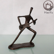 cast iron metal musician sculptures for Christmas gift