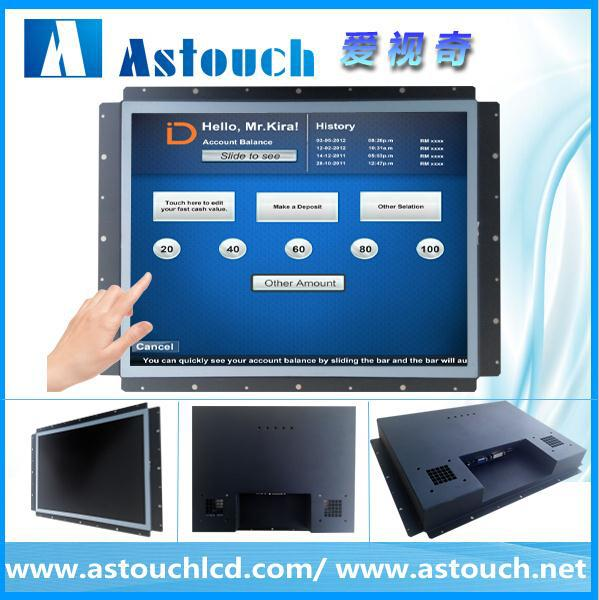 Museum display solution mini size touch screen monitor for industry