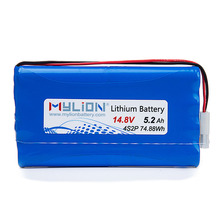 Mylion 18650 4S2P 14.8V 5.2Ah rechargeable lithium ion battery pack for 12V PUMP Motors