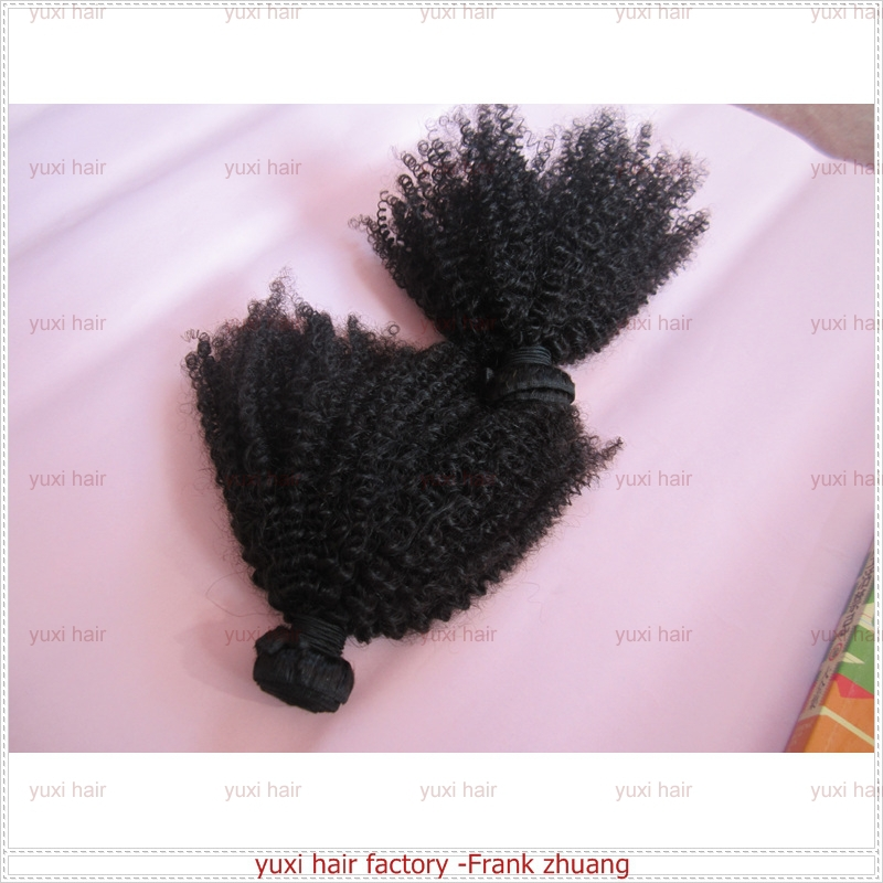 Top selling luxury quality afro kinky human hair for black women
