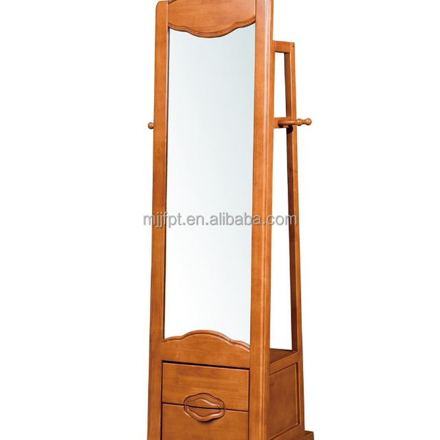 Modern solid wood bedroom home furnishing full length dressing mirror 8198