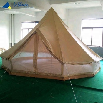 Cotton Canvas Double Wall Bell Tent With Stove Pipe Jack Hole
