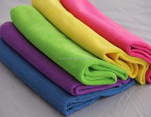 30x30cm pearl cloth 3M microfiber towel plain dyed kitchen dish cloth cleaning car wipe towel