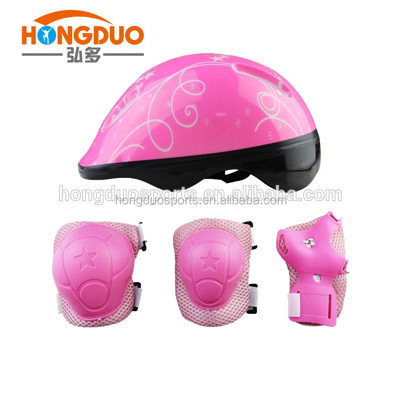 2016 new design skateboard helmet and knee