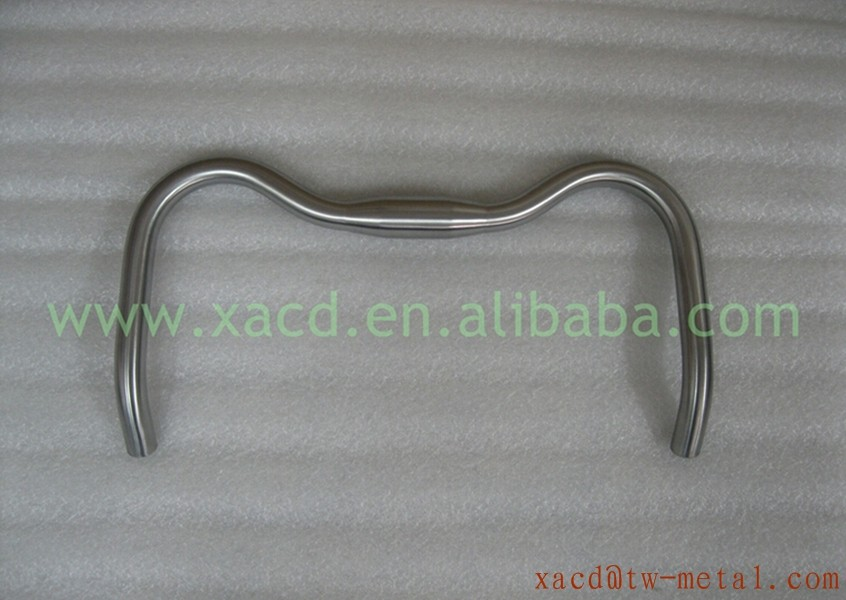 Titanium road bicycle handlebar fit for 700c road bike custom Ti bending handle bar XACD Ti road bike 400mm handlebar