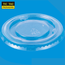 PET lid flat plastic lid to plastic disposable portion cup 2oz 60ml
