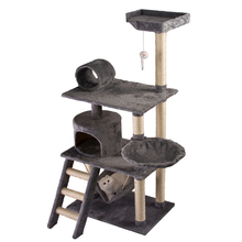 wood pet house supplier luxurious climbing tower large scratcher cat tree