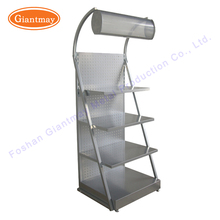 retail floor standing trade show metal display professional makeup beauty products cosmetics tray racks stands