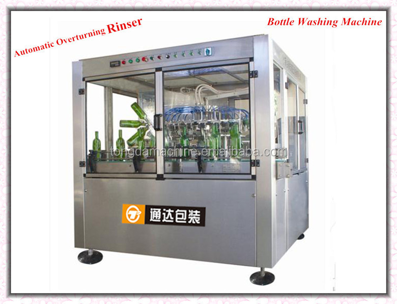 fully automatic rotary type glass bottle washing filling capping machine