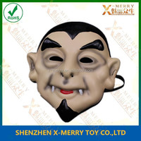 X-MERRY Black Hair Whiskers Old Man Mask Fortune-teller Mask For Halloween Carnival Theater Costume Prop EVA