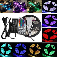 SMD 5050 <strong>RGB</strong> 5M Strip Light 300 LED 44 Key IR Remote 12V 5A Power Non-Waterproof