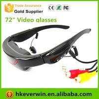 "72"" 16:9 Widescreen Multimedia Player Eyewear Portable Video Glasses"