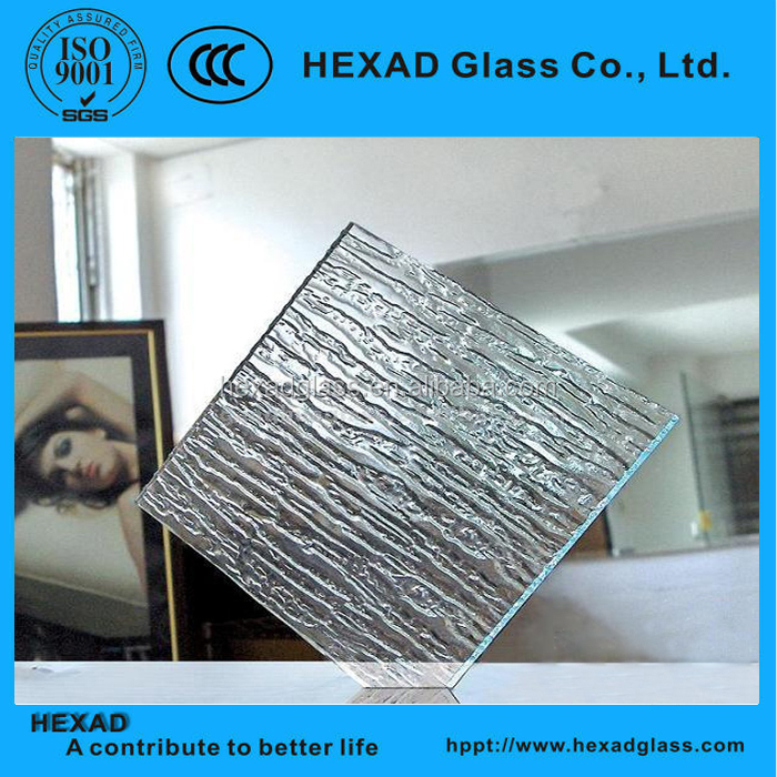 Ultra Clear Waterfall Patterned Window Glass for Decorative