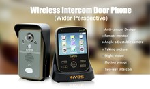Wireless security camera video door entry system 3.5 inch color video door phone KDB302A