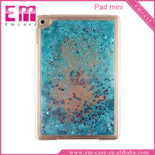Liquid Glitter Stars Quicksand Hard Case Back Cover For iPad mini Bling Clear Transparent Case