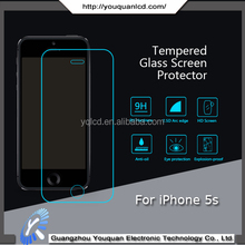 9H NEW Tempered Glass Screen Protector For Apple Iphone 5s Premium Slim Tempered Glass Film Screen Protector
