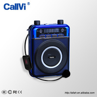Callvi High Power Stereo REC Radio FM Wireless Audio Amplifier with Microphone for Teachers Classroom