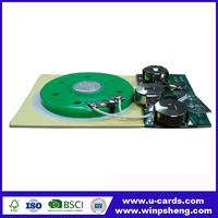 Custom recordable sound module for greeting cards