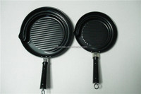 carbon steel oil guide pot grill pot non-stick frying pan