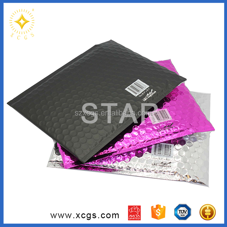 Black Metallic Bubble Mailing Bags Shock Proof Padded Envelope