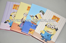 Despicable me 2 minions wallet leather case,Cartoon Despicable Me 2 cheap case for ipad mini
