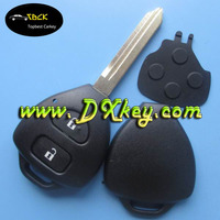 2 buttons car key cover with toy47 key blade no logo for Toyota Camry key cover toyota key shell