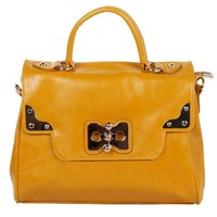 HD25-077 Yellow lady guangzhou handbag custom fashion oily leather handbags