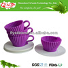 Eco-friendly And Non-stick Food Grade Cheap Silicone Teacup Cup Cake, Kitchen Party Cake