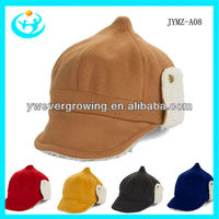 2013 Fashion wool felt men and women warm hat ladies hat earflap