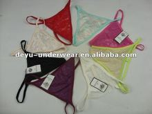 0.11USD Ladies Sexy Stock Cheap Lace France Sexy Girls In G Strings (kcnk025)