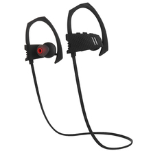 Factory cheap price black music earhook wireless sport earphone headphone for mobile phone