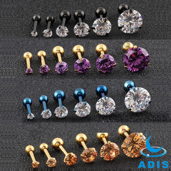 fashion 2016 jewelry wholesale ear piercing rings studs