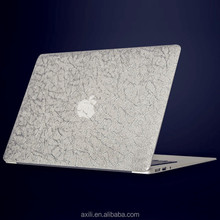 Luxury Silver Plastic Leather decal sticker cover for Macbook Air Pro 13 inch(A1708/A1706)