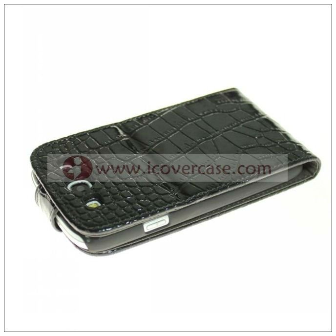 croco leather mobile case for samsung galaxy s3 i9300 ,phone accessories