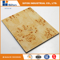 Acp Aluminum Composite Board Wood Grain Exterior Wall Panel