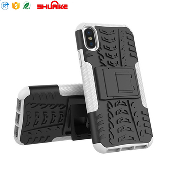For iPhone X Case Stand Hybrid PC TPU Mobile Phone Cover for iPhoneX Factry Sales