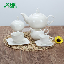 New arrival european style white simple porcelain coffee set wholesale