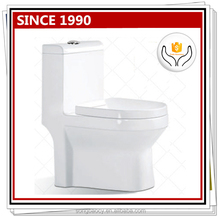 040 Floor mounted easy clean one piece toilet types of water closets