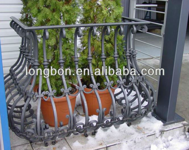 China factory security antique italian wrought iron balcony railing designs