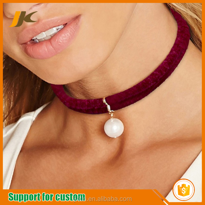 Thanksgiving Day Christmas New Year gift red velvet necklace neck chain