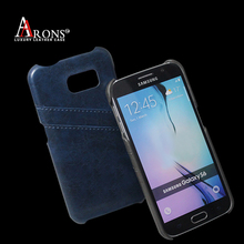 Blue luxury leather back case cover for samsung galaxy s duos s7562