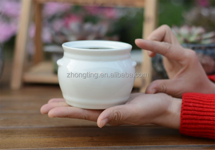 China manufacturer wholesale small glazed clay plant pots