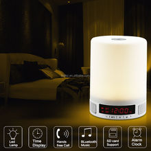 Wireless Bluetooth 4.0 Speaker Subwoofer with Adjustable LED Lighting lamp TF