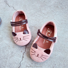 2018 spring new design infant baby girl cute kitty casual shoes kids cartoon fashion single shoes