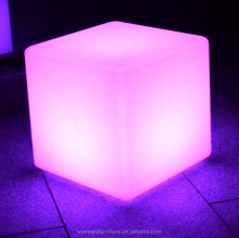 Waterproof glow led cube furniture garden cube led light 16 colors change