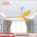 Zhongshan ODM modern decorative led 12W light ceiling fan remote control