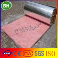 Glass wool for metal structure roofing insulation / Fiber glass wool roll