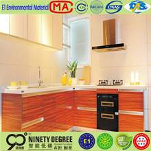 Modern style smooth surface wooden mdf door kitchen cabinets design KN02