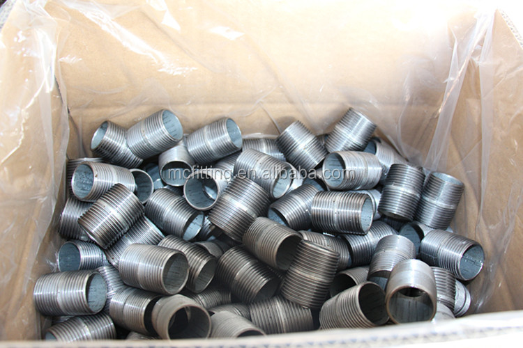 ASTM NPT BSP Carbon steel electro galvanized pipe nipple shopping welcome to buy